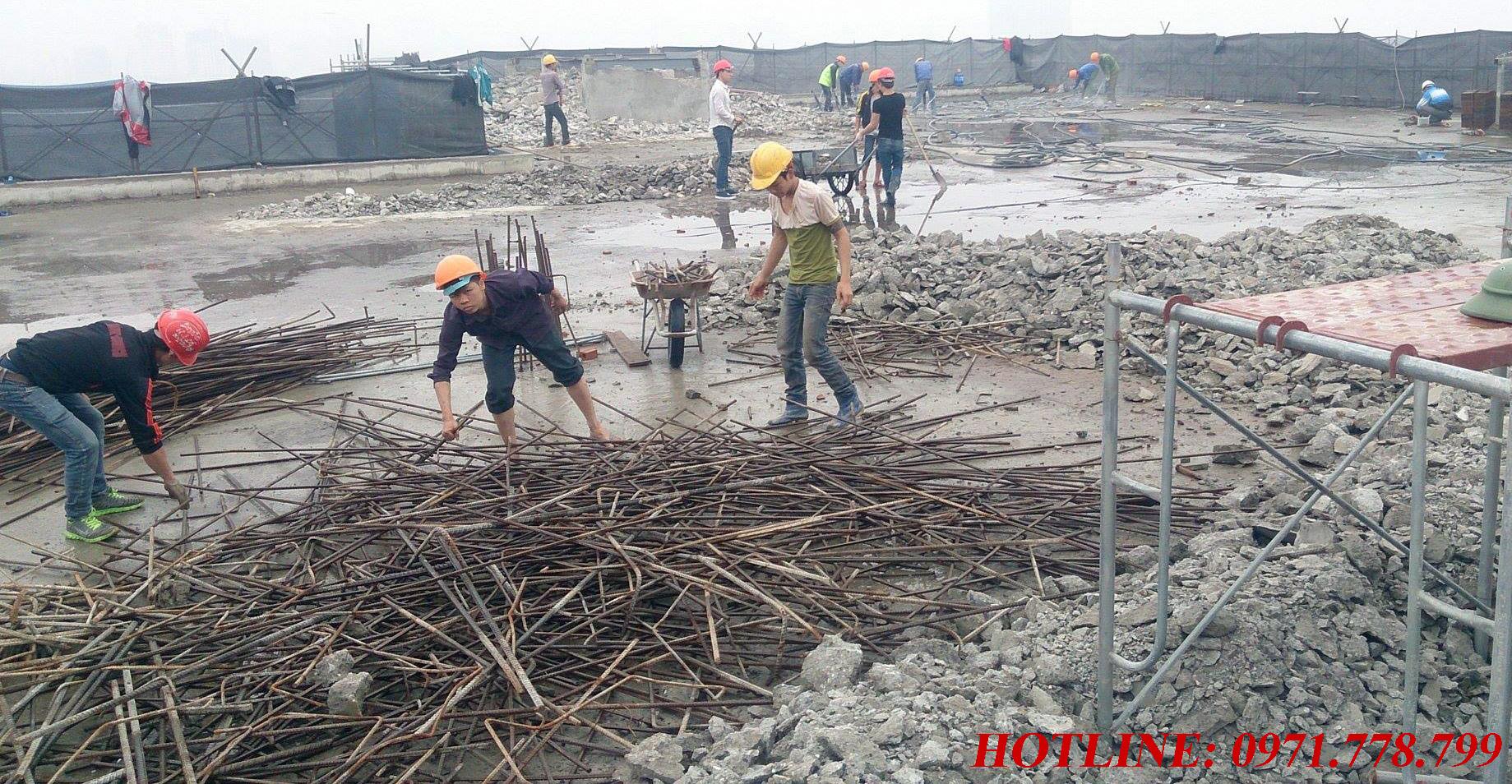 Thu gom phế liệu sắt công trình